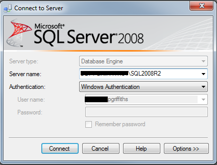 Login in to SQL Server