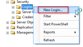 Creating a new user login